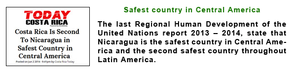 Nicaragua Safest Country